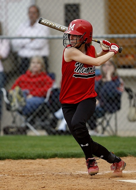 Softball batter female, people.