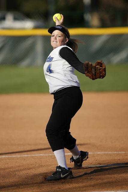 Softball pitcher female, people.
