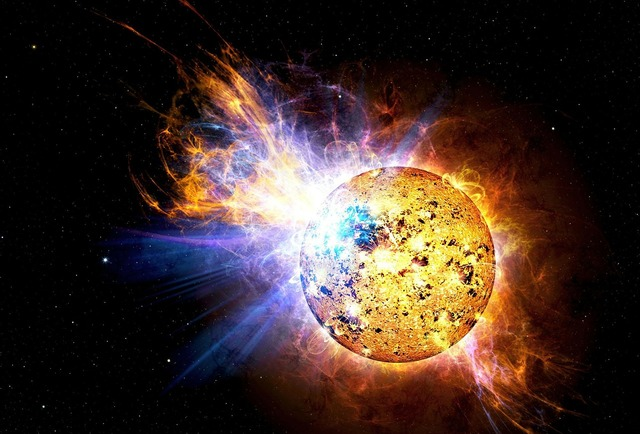 Solar flare flare explosion, science technology.
