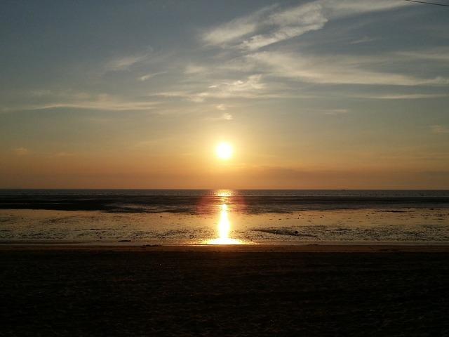 Solar glow beach, travel vacation.