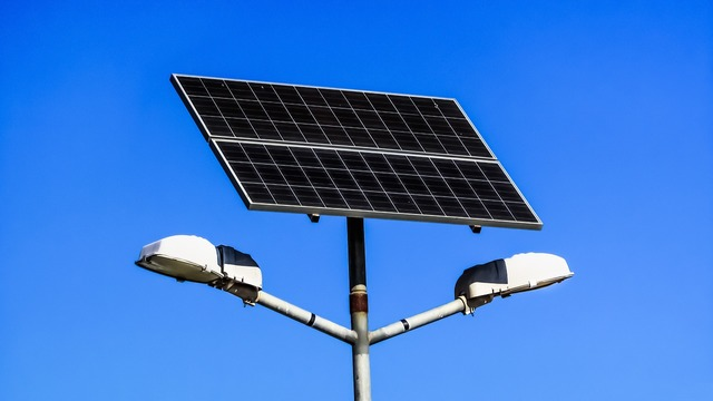 Solar panel lamps electricity, science technology.