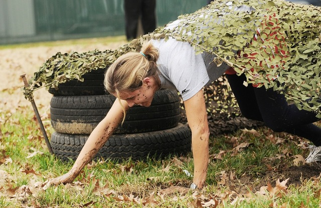Soldier obstacle course, beauty fashion.