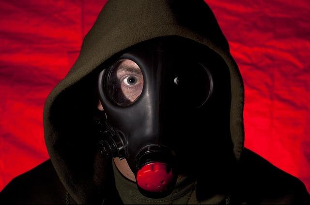 Soldier oxygen restricting mask lenses.