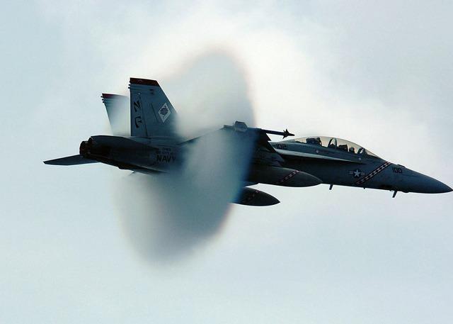 Sound barrier navy jet supersonic.