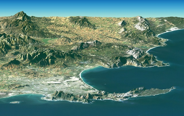 South africa cape town srtm.