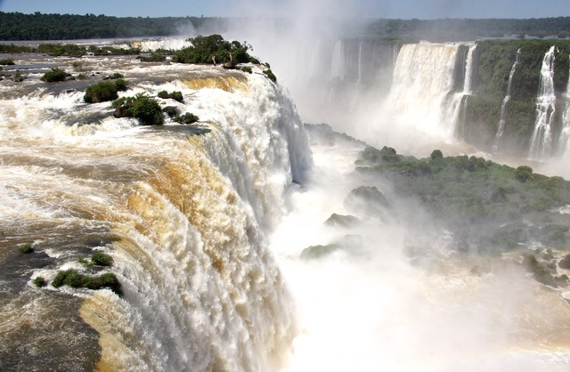South america waterfall waterfalls foz de iguazu.