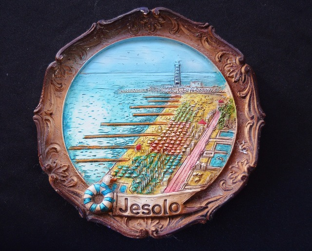 Souvenir italy jesolo, travel vacation.