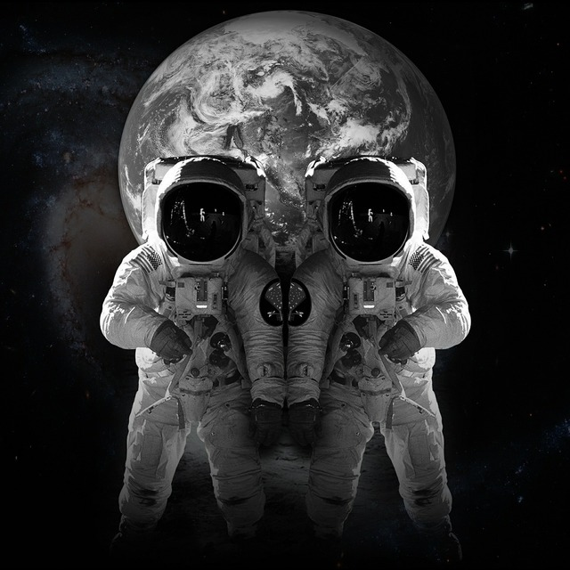 Space astronaut universe, science technology.