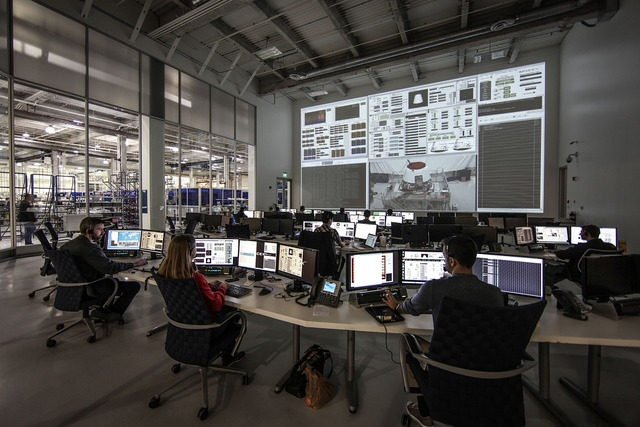 Space center spacex control center, science technology.
