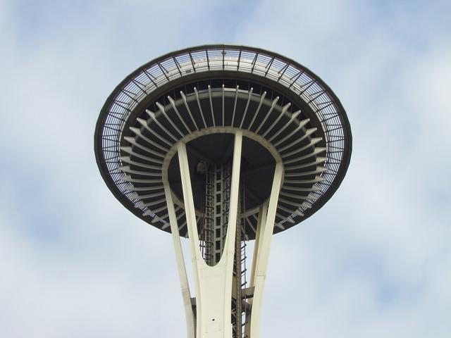 Space needle seattle revolving restaurant, places monuments.