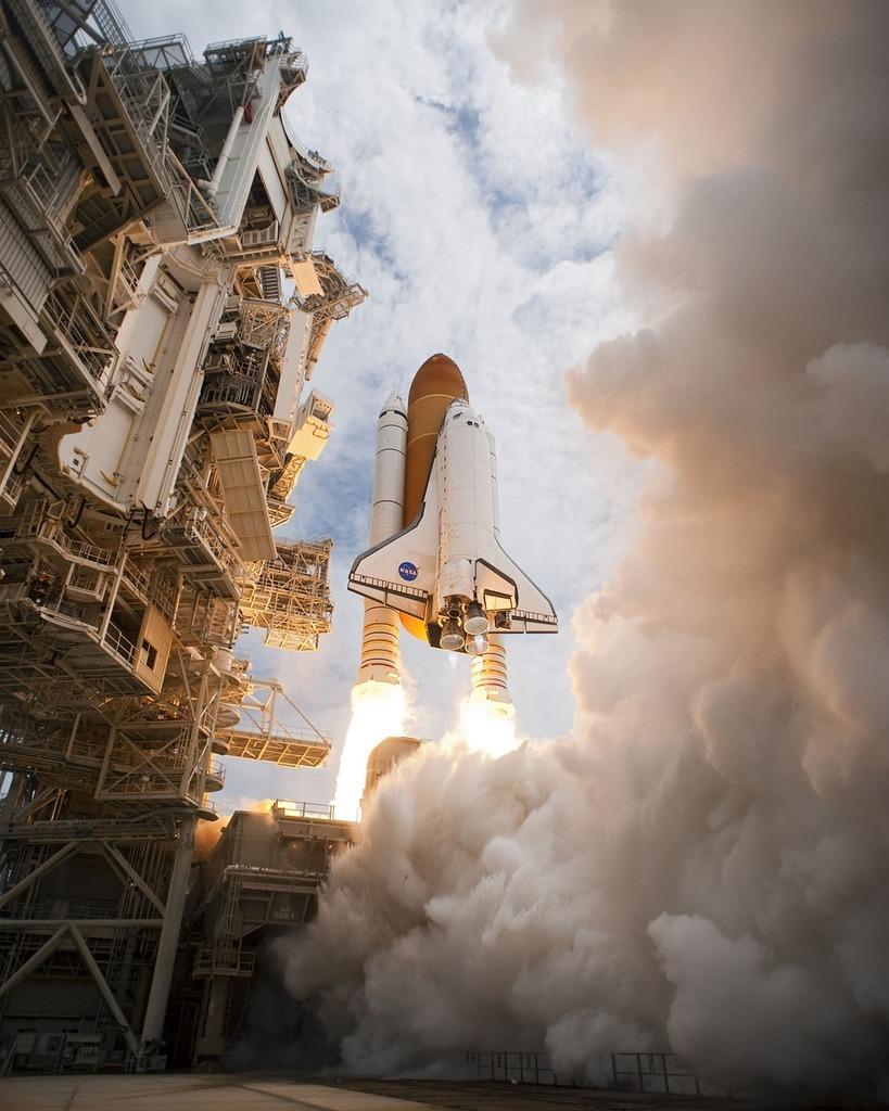 Space shuttle atlantis liftoff launch.