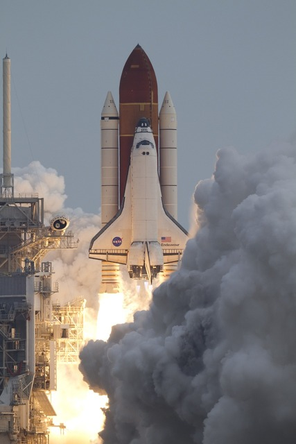 Space shuttle endeavour liftoff launch.
