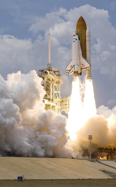 Space shuttle liftoff atlantis.