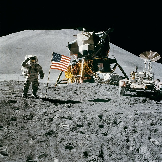Space station moon landing apollo 15, science technology.