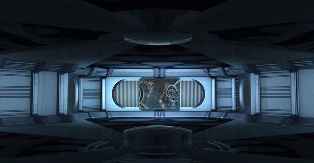 Spaceship interior stage design, backgrounds textures.