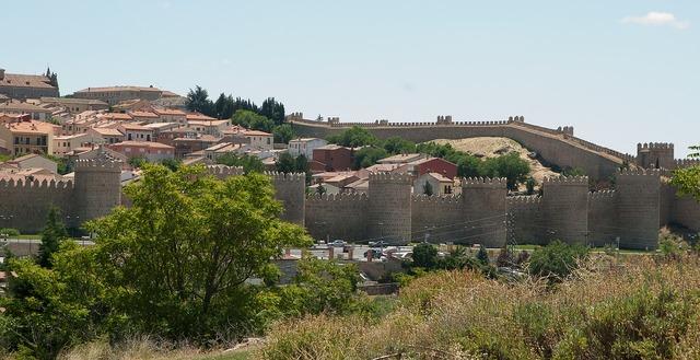 Spain avila ramparts.