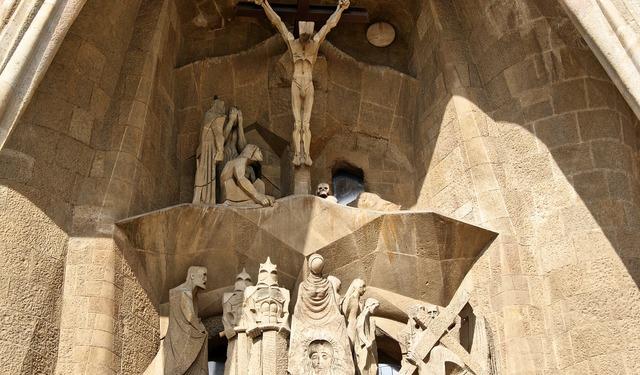 Spain barcelona church, religion.
