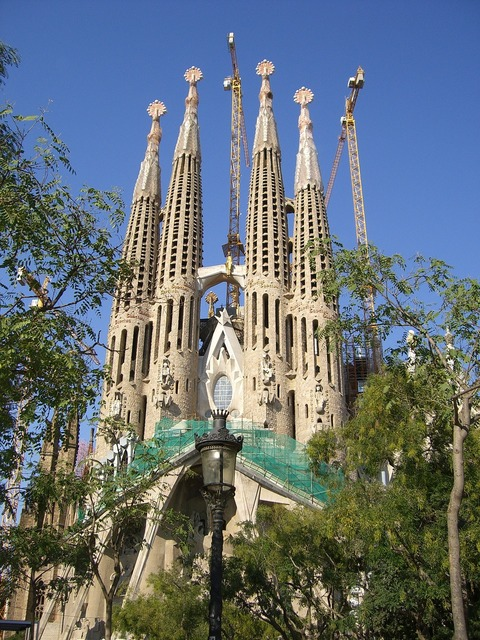 Spain catalonia barcelona, architecture buildings.