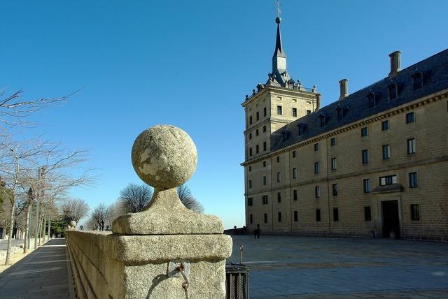 Spain escorial castle, architecture buildings.
