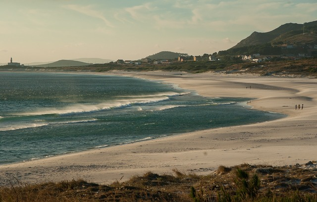 Spain galicia beach, travel vacation.