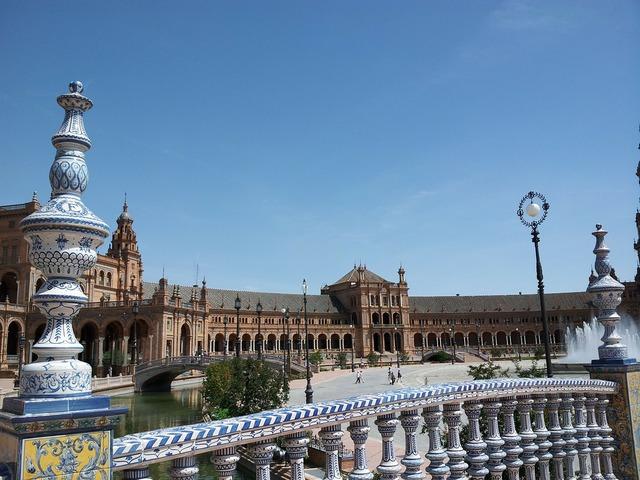 Spain square maria luisa park.