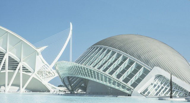 Spain valencia city of arts and sciences, architecture buildings.