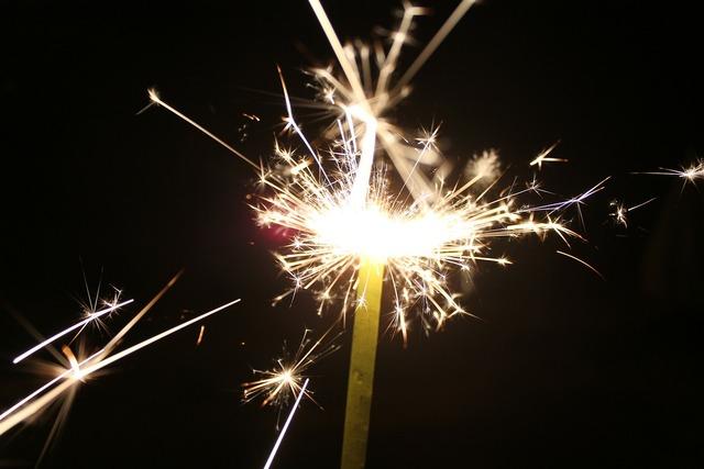 Sparkler fireworks celebrate.