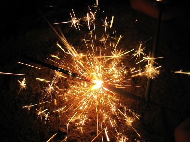 Sparkler radio fire.