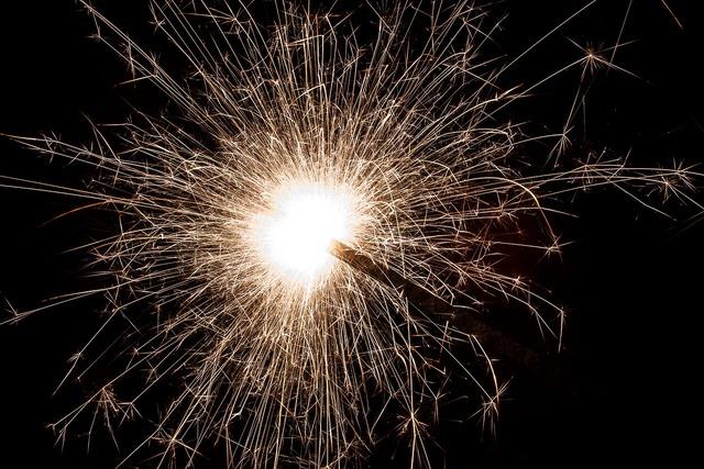 Sparkler star fire sprühkerze.