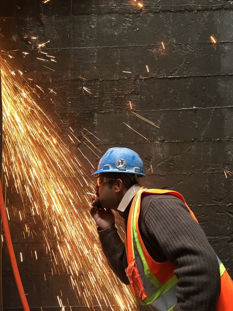 Sparks demolition construction, people.