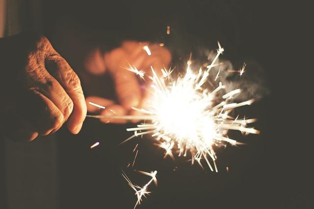 Sparks fireworks independence day.