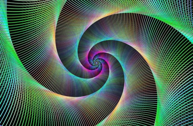 Spiral fractal swirl, backgrounds textures.
