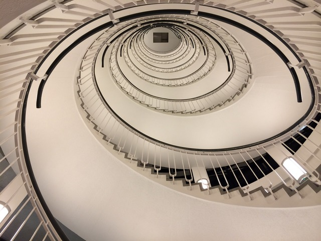 Spiral staircase staircase spiral, architecture buildings.