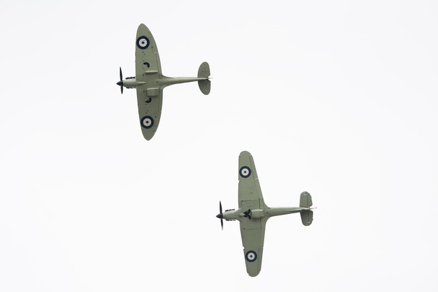 Spitfire mustang aircraft.