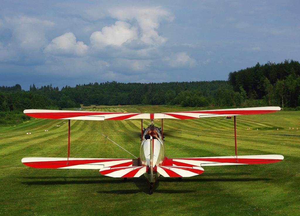 Sport aircraft aircraft runway.