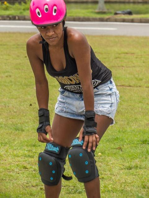 Sport rollerblades park, sports.