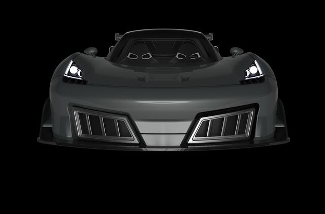 Sports car 3d model.