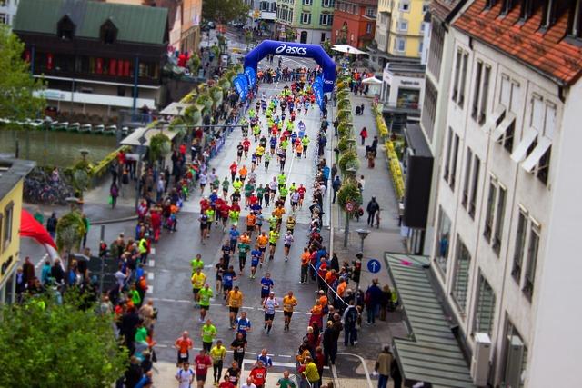 Sports marathon race, sports.