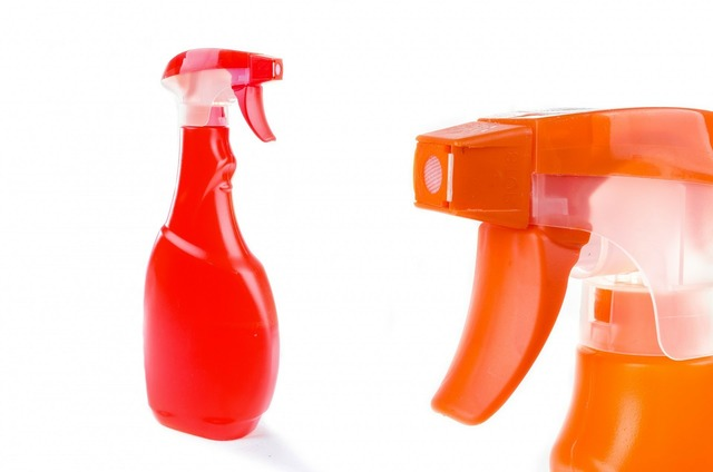 Spray household surface.