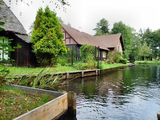Spreewald depth water, nature landscapes.