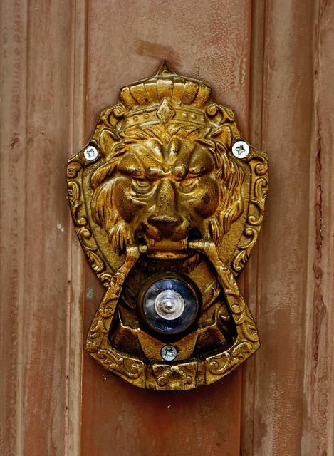 Spy eye door.