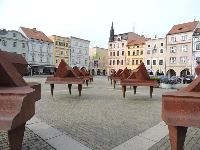 Square czech budejovice art, architecture buildings.