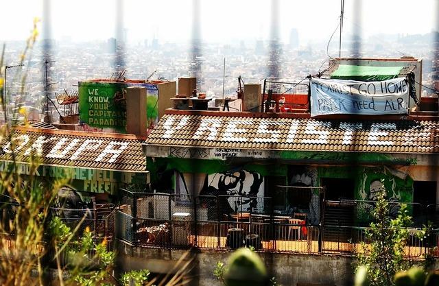 Squatters parc guell barcelona, architecture buildings.