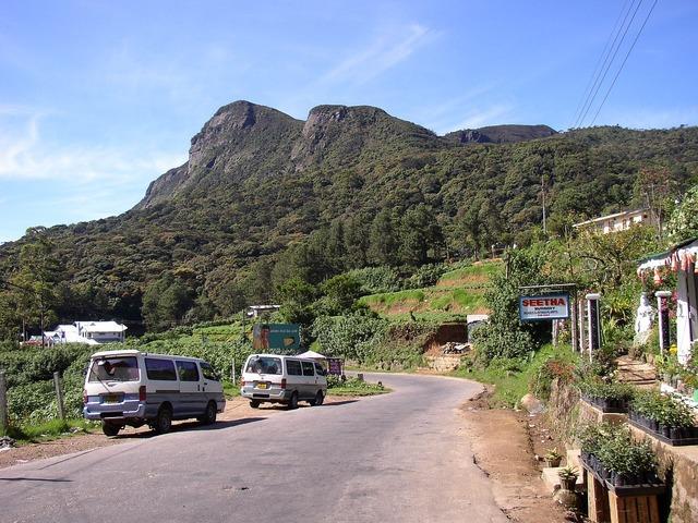 Sri lanka highlands mountain, nature landscapes.