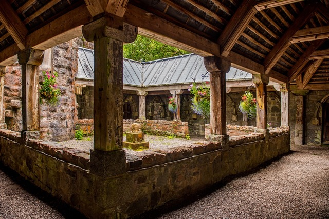 St conans kirk loch awe argyll, architecture buildings.