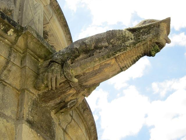 St gatien cathedral gargoyle cloister, architecture buildings.
