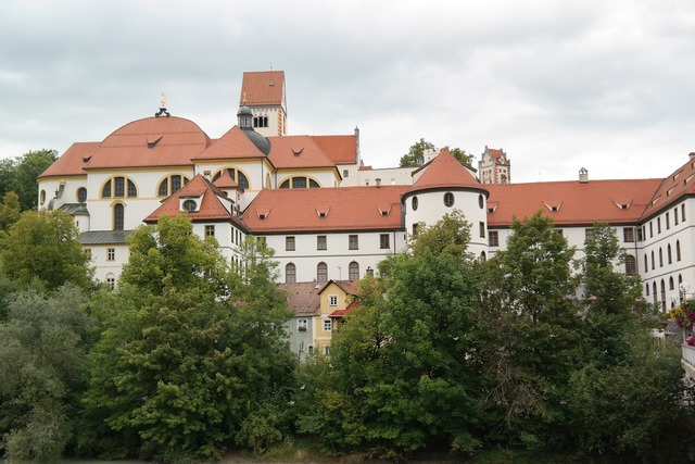 St mang abbey füssen monastery, architecture buildings.
