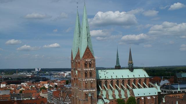 St mary's church lübeck gothic, religion.