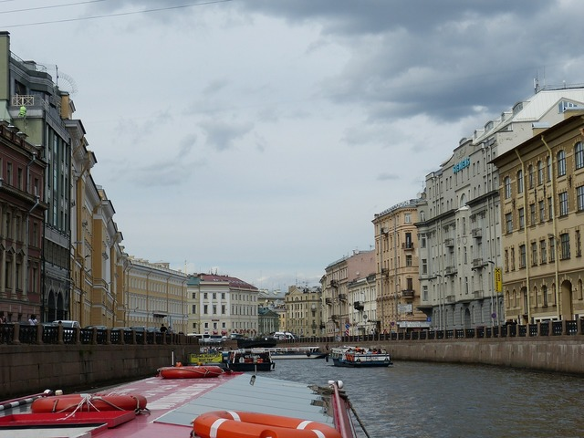 St petersburg channel russia, travel vacation.