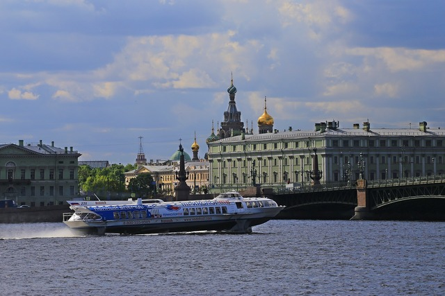 St petersburg city ​​on the neva russia.